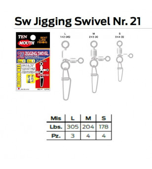 SW JIGGING SWIVEL N 21