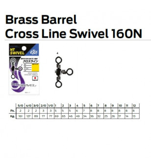 NT BRASS BARREL CROSS LINE 160