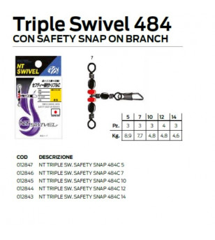 NT TRIPLE SWIVEL SAFETY SNAP 484