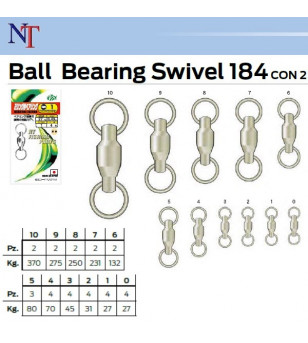 NT BALL BEARING SWIVELS 2 RINGS 184