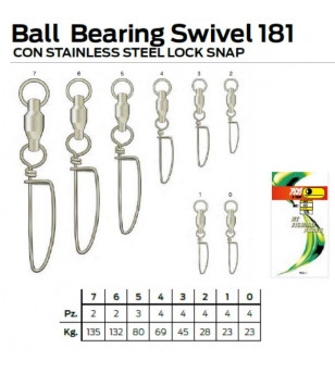 NT BALL BEARING SWIVEL LOCK SNAP 181