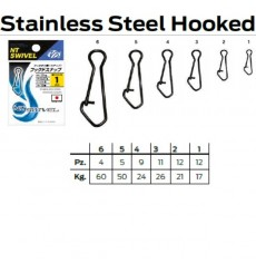NT STAINLESS HOOKED SNAP 210