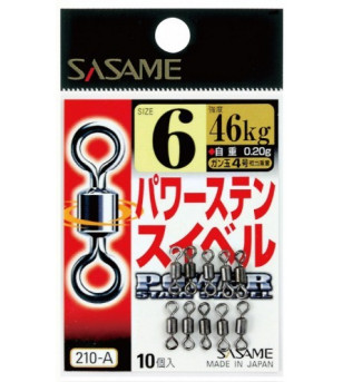 Sasame Power Stainless Swivel with Snap 210-A