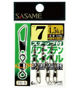 Sasame Power Stainless Swivel with Snap 210-B