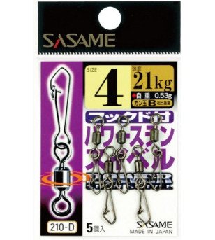 Sasame Power Stainless Swivel with Snap 210-D