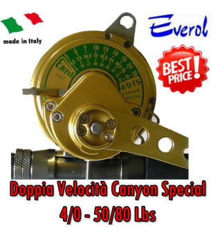 EVEROL TWO SPEED SERIES 4/0 - CANYON SPECIAL 50/80 Lbs