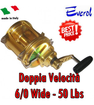 EVEROL TWO SPEED SERIES 6/0 - 50 Lbs WIDE