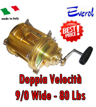 EVEROL TWO SPEED SERIES 9/0 - 80 Lbs WIDE