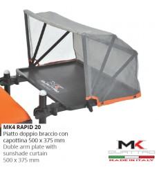 MK4 RAPID Piatto doppio braccio parasole 50x37