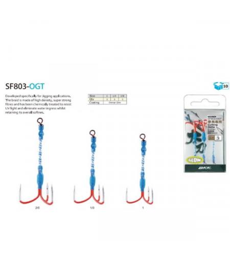 Bkk SF803-OGT Assist Treble Orange GLOW